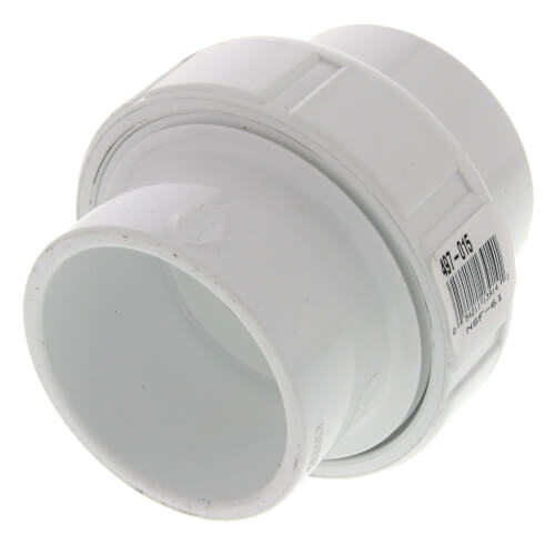 "1-1/2"" Sch. 40 PVC Socket Union w/ EPDM O-ring Product Image"