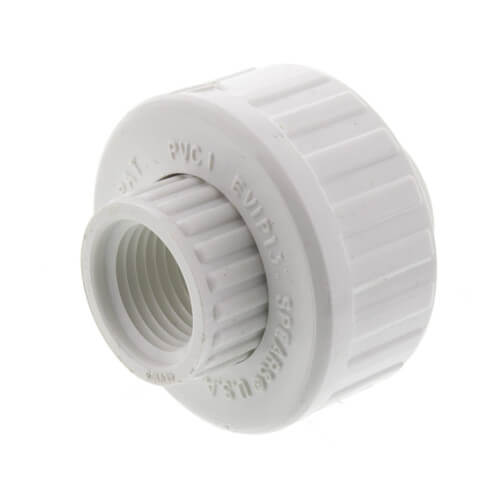 "1/2"" PVC Sch. 40 Female Union w/ EPDM O-ring Product Image"