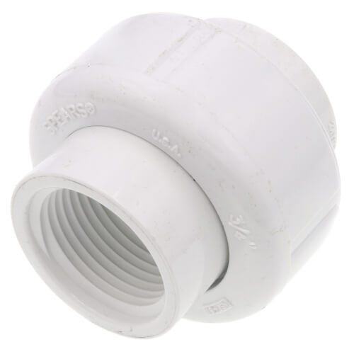 "3/4"" PVC Sch. 40 Female Union w/ EPDM O-ring Product Image"