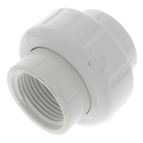 """1"""" PVC Sch. 40 Female Union w/ EPDM O-ring Product Image"""