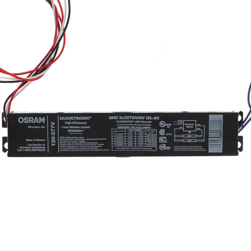 QHE2X32T8/UNV ISL-SC QUICKTRONIC T8 High Efficiency Fluorescent Ballast 120/277V (32 Watts) Product Image