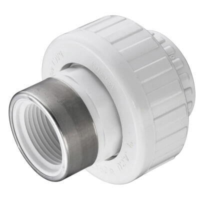 "1-1/2"" PVC Sch. 40 Socket x SR Female Union w/ EPDM O-ring Product Image"