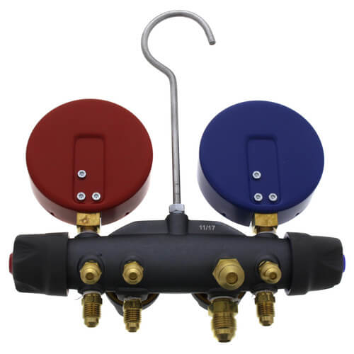Blue for sale online Yellow Jacket 49968 Titan 4-Valve Test and Charging Manifold Red