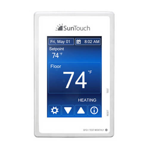 SunStat Command Programmable Thermostat Touchscreen LCD (120 or 240 VAC) Product Image
