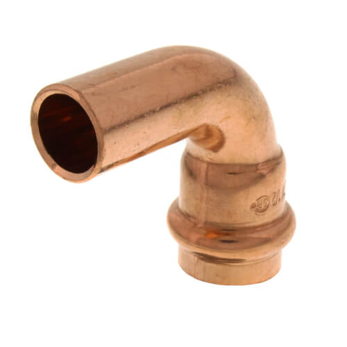 """1/2"""" Press Copper 90° Street Elbow (FTG x Press) Product Image"""