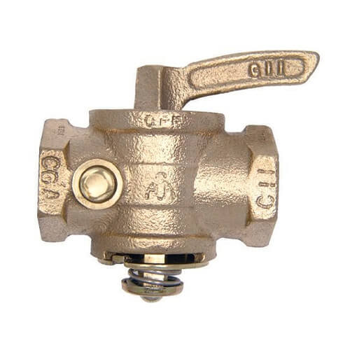 "2-1/2"" Manual Main Gas Valve, 1/4"" Tap Product Image"