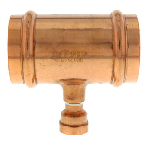 "2"" x 2"" x 1/2"" Press x Press x Female Copper Tee Product Image"