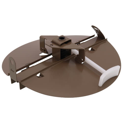 "3800 Series 7"" Steel Butterfly Damper with Ring (Golden Sand) Product Image"