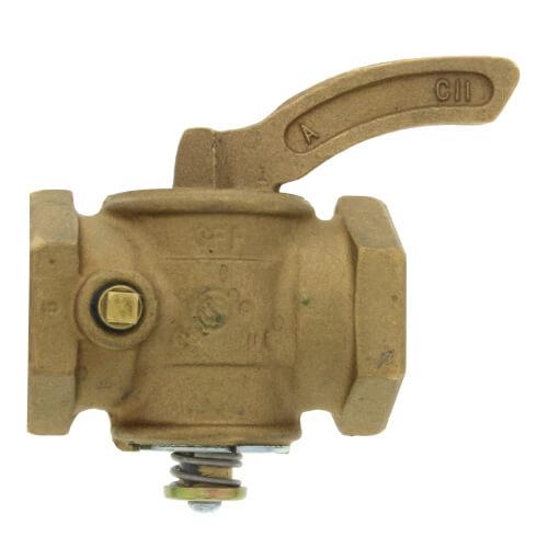 "1-1/4"" Manual Main Gas Valve, 1/8"" Tap Product Image"