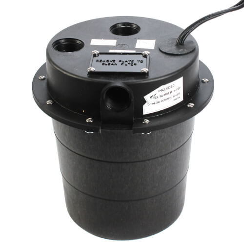 WRS-5-1/6 HP, 15 GPM @ 5' Submersible Utility Pump, Water Removal System w/ 5 gal. Tank & 10ft Power Cord Product Image