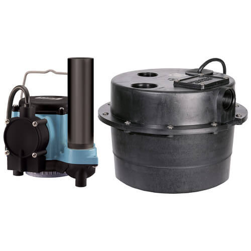 WRSC-6 1/3 HP, 45 GPM @ 5', 230V - Submersible Utility Pump Water Removal System w/ 3-1/2 gal. tank. & 8ft power cord w/o plug Product Image