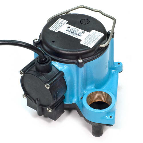 6-CIA, 1/3 HP, 45 GPM - Automatic Submersible Sump Pump, 10 ft Power Cord