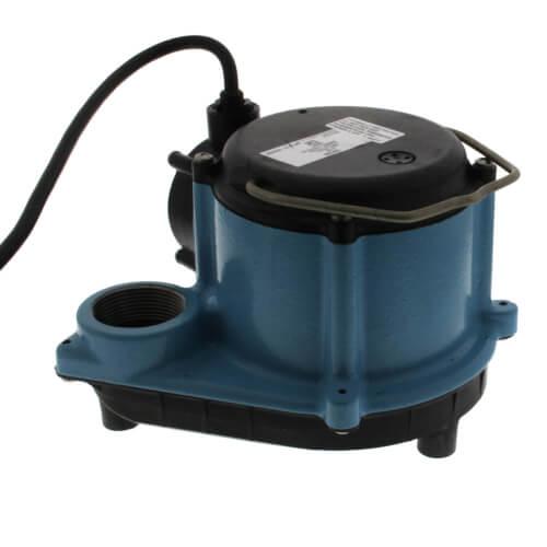 6-CIM 1/3 HP, 45 GPM (175LPM), 230V - 6-CIM Manual Submersible Sump Pump, 12ft (3.6m) power cord Product Image