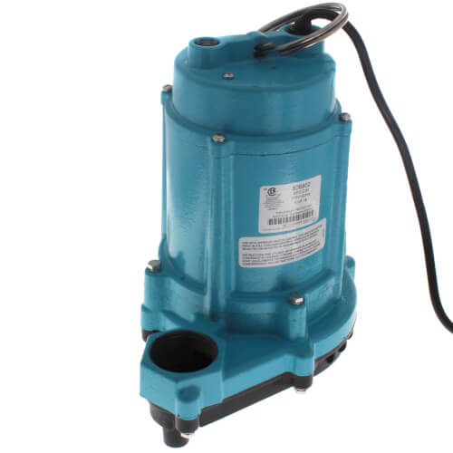 6EC-CIM 1/3 HP, 53 GPM - Manual Submersible Sump Effluent Pump, 20 ft power cord Product Image