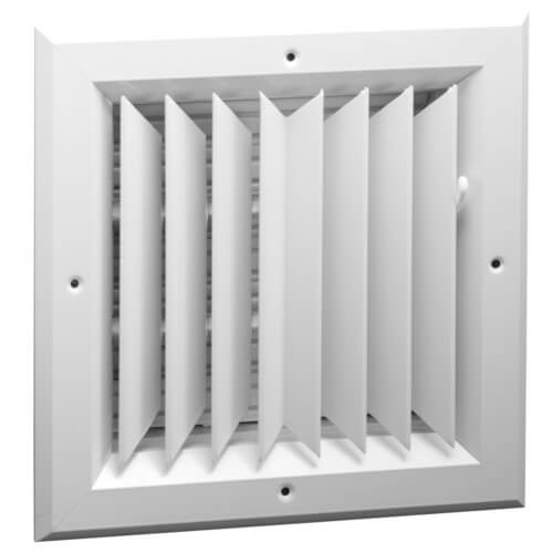 "6"" x 6"" (Wall Opening Size) White Ceiling Diffuser (A502MS Series) Product Image"