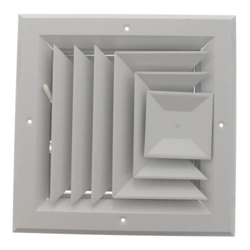 "8"" x 8"" (Wall Opening Size) White Ceiling Diffuser (A503MS Series) Product Image"