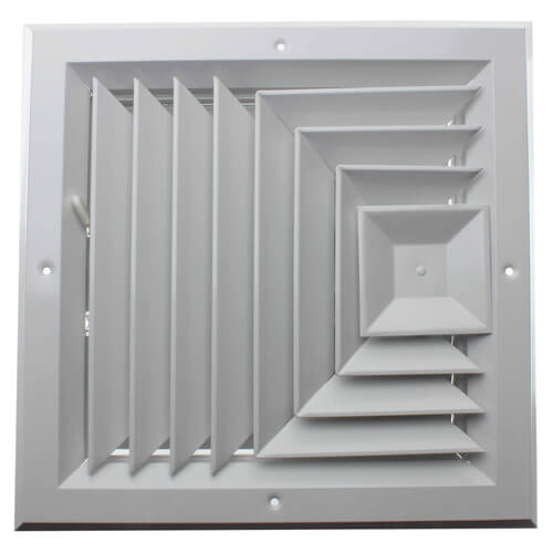 "10"" x 10"" (Wall Opening Size) White Ceiling Diffuser (A503MS Series) Product Image"