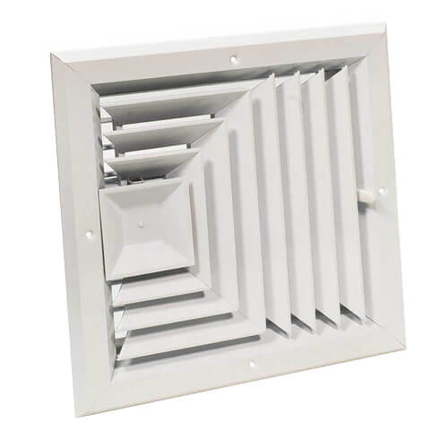 """12"""" x 12"""" (Wall Opening Size) White Ceiling Diffuser (A503MS Series) Product Image"""