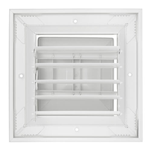 """6"""" x 6"""" (Wall Opening Size) White Ceiling Diffuser (A504MS Series) Product Image"""