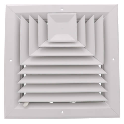 """10"""" x 10"""" (Wall Opening Size) White Ceiling Diffuser (A503OB Series) Product Image"""