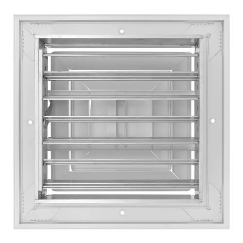 """8"""" x 8"""" (Wall Opening Size) White Ceiling Diffuser (A504OB Series) Product Image"""