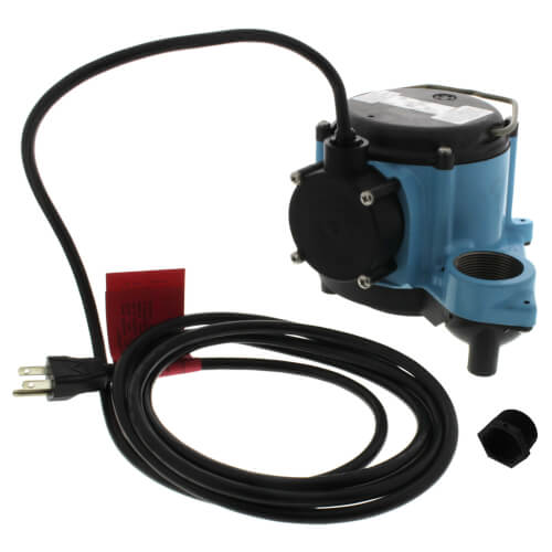 8-CIM Manual Submersible Sump Pump, 115V, 4/10HP, 10' cord Product Image