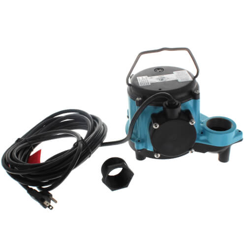 8-CIM Manual Submersible Sump Pump, 115V, 4/10HP, 25' cord Product Image