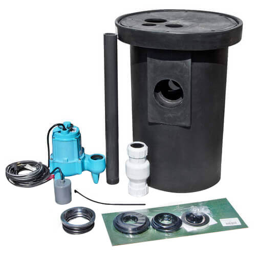 Simplex Package w/ Roll-Top Molded Polyethylene Basin, Snap-In Vinyl Hub/1-piece Foam Cover w/ Slip-Fit Flanges (Unassembled) Product Image