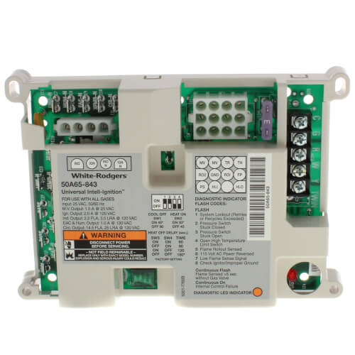50A65-843 - White Rodgers 50A65-843 - Universal Nitride Ignition Furnace  Control | White Rodgers Circuit Board Wiring Diagram |  | SupplyHouse.com