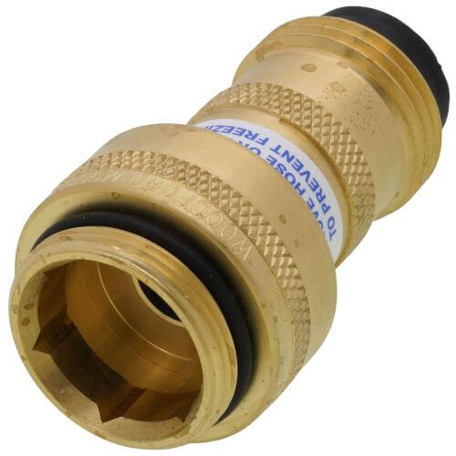 "Model-50HA, 3/4"" Male Hose Thread NIDEL Vacuum Breaker w/ High Flow Double Check (Brass) Product Image"
