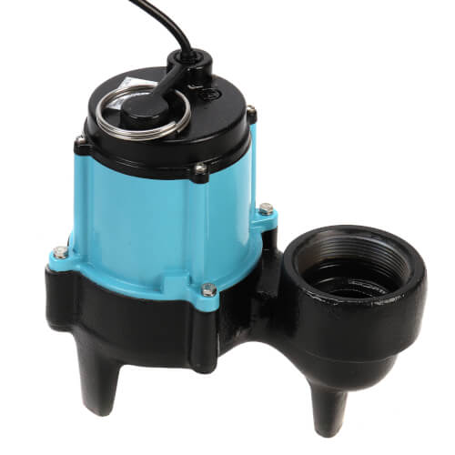 """10SC-CIM 1/2 HP, 130 GPM - Manual Submersible Sewage Pump - 2"""" Solids, 3"""" Discharge (20' Cord) Product Image"""