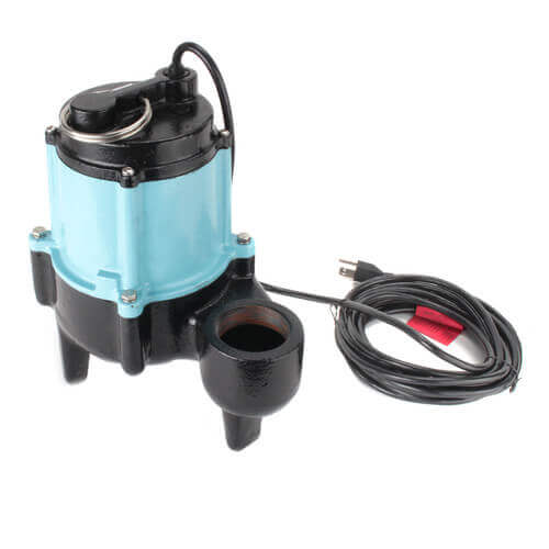 10SC-CIM 1/2 HP, 120 GPM - Submersible Manual Sewage Pump, 20 ft power cord Product Image