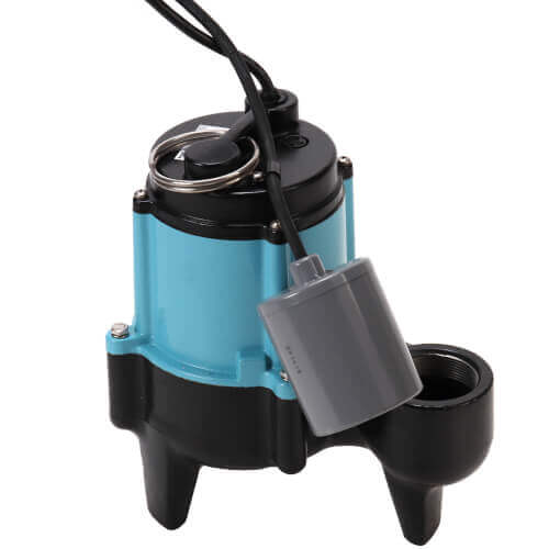 """10SC-CIA-RF 1/2 HP, 120 GPM - Submersible Sewage Ejector Pump w/ 3"""" Discharge & 20 ft. power cord Product Image"""