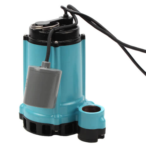 10ENH-CIA-RF 1/2 HP, 60 GPM - Submersible High Head Effluent Pump w/ Mechanical Float Switch - 20 ft power cord Product Image