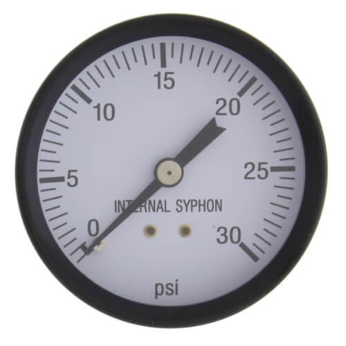 "2-1/2"" Round Steam Pressure Gauge, 0-30 psi Product Image"