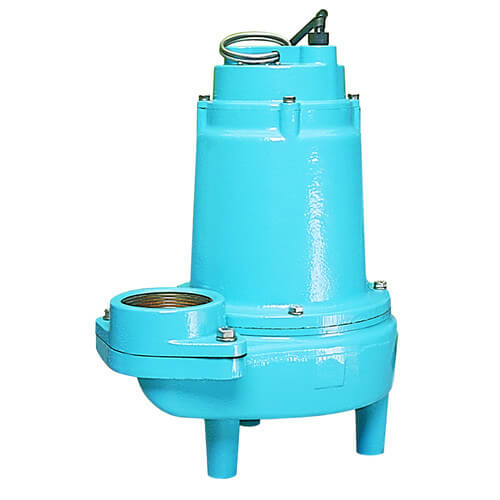 "14S-CIM 1/2 HP, 100 GPM - Manual Submersible Sewage Ejector Pump, 20ft power cord - 3"" Discharge Product Image"