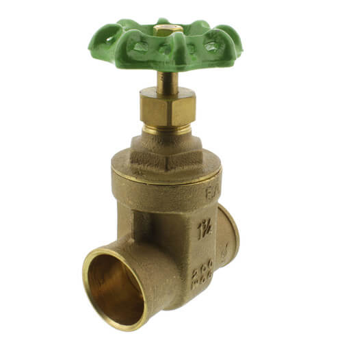 "1-1/4"" Solder Ends Gate Valve (Lead Free) Product Image"
