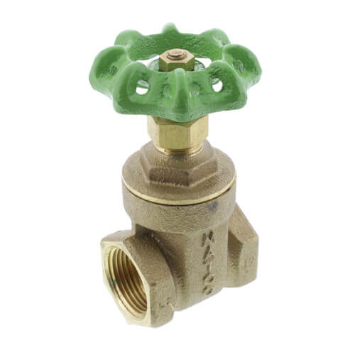"3/4"" Threaded Gate Valve, Lead Free Product Image"