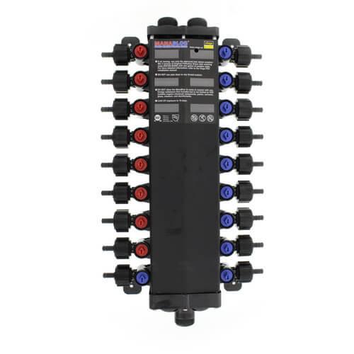 """1/2"""" / 3/8"""" 18 Port Combination Crimp MANABLOC Product Image"""
