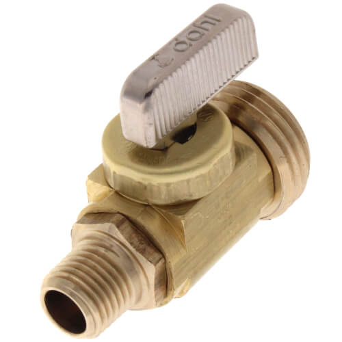 "1/4"" MIP x Male Hose, Straight Hose and Boiler Drain Valve, Lead Free (Brass) Product Image"