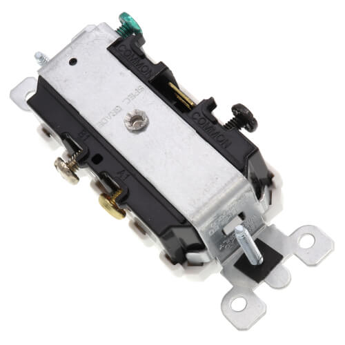 Duplex Style Single Pole Pilot Light Combination Switch, 15A - White (120/277V) Product Image