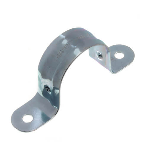 """1-1/4"""" Two Hole Steel EMT Snap-On Strap Product Image"""