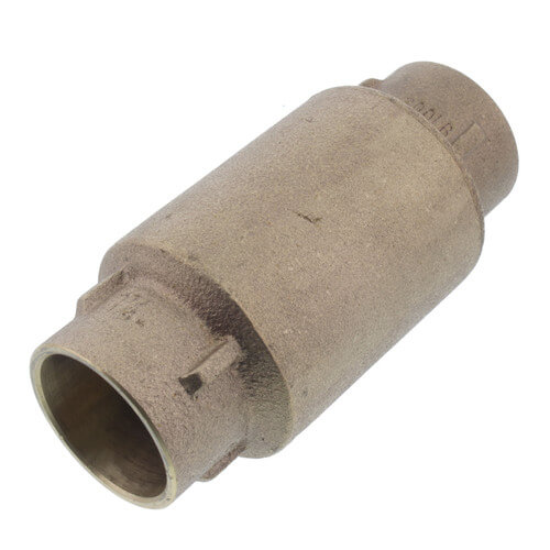 """1-1/4"""" C x C Bronze In-Line Check Valve, Lead Free (Spring Loaded) Product Image"""