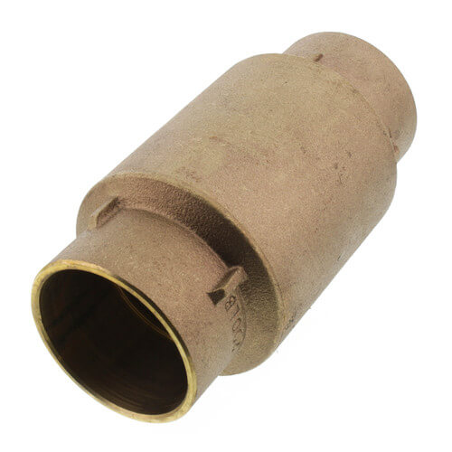 "2"" C x C Bronze In-Line Check Valve, Lead Free (Spring Loaded) Product Image"