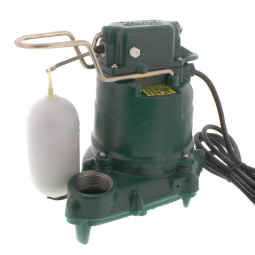 Model M53 Mighty-Mate Automatic Cast Iron Effluent Pump w/ 35 ft. Cord - 115 V, 0.3 HP Product Image