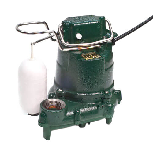 Model M53 Mighty-Mate Automatic Cast Iron Effluent Pump - 115 V, 0.3 HP w/ 25' Cord Product Image