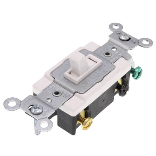 4-Way, Side Wired, Framed Toggle Switch, 15A - White (120/277V) Product Image