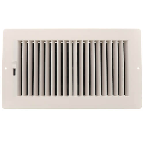 """12"""" x 6"""" (Wall Opening Size) White Two-Way Plastic Sidewall/Ceiling Register (RZ682 Series) Product Image"""