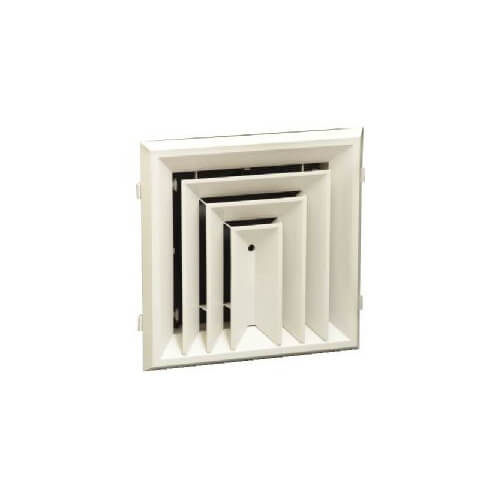 "RZ503 12"" x 12"" (Wall Opening Size) 3-Way Ceiling Diffuser (Polymer/Rezzin) Product Image"