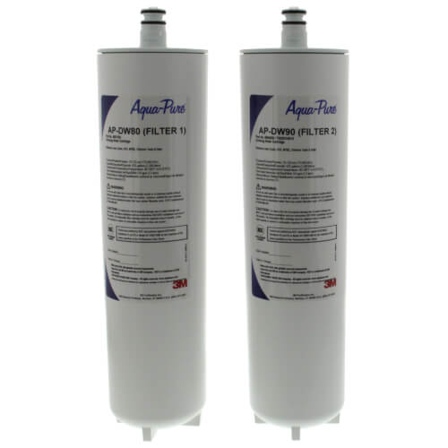 Aqua-Pure AP-DW80/90, Dual Stage Drinking Water Filtration System Replacement Cartridges Product Image